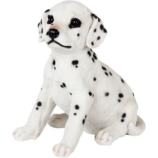 Wonderland sitting Dalmation Dog Pup staute real looking made of polyresin garden dcor home decoration garden decoration items Home Decorative items gift  gifting