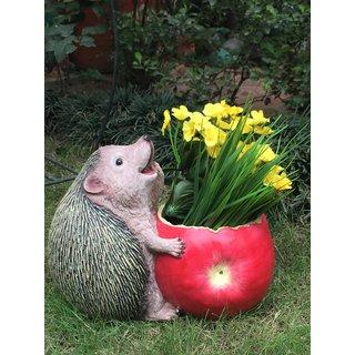 Wonderland: Fat Hedgehog Flower Pot (Garden Planters Home and Garden Decor planter kids room decor gifting)