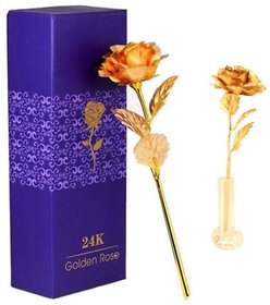 24K Golden Rose With Gift Box and Nice Carry Bag