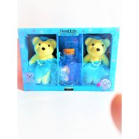 Two Taddy Bear To Spated Middle Glass With Lighting(col