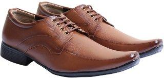Stylos Men's Tan 1120 Formal Shoes