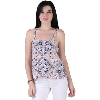 AIDA Cotton Floral Print Top for Women - Pink
