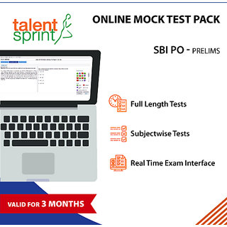 Online Mock Tests- SBI PO Prelims (Valid for 3 months) - 10 Full length tests and 10 Subjectwise tests in Real Time Exam Interface