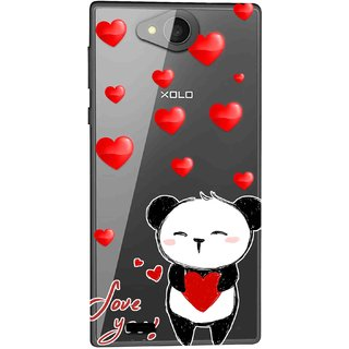 new style bd83f 84534 Snooky Printed Heart Mickey Mobile Back Cover of Xolo Prime - Multicolour