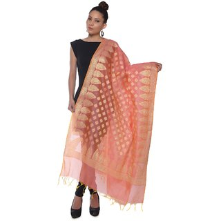 Women's Banarasi Silk-Cotton Chanderi Dupatta