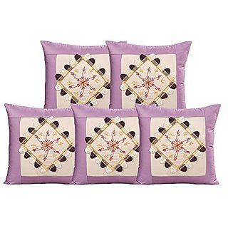 Zain Cushion Covers 16 X 16 inch, Embroidered (SET OF 5)