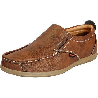 Bata Mens Tan Premium Leather Stylish Loafers