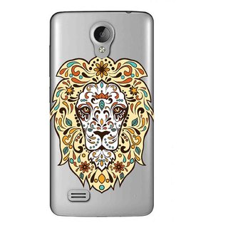 Snooky Printed Lion Face Mobile Back Cover of Vivo Y21 - Multicolour