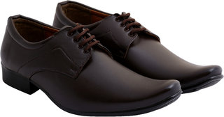 Stylos Men's Brown 1151 Formal Shoes
