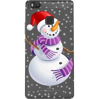 Snooky Printed Santa Cartoon Mobile Back Cover of Huawei Honor 8 Smart - Multicolour