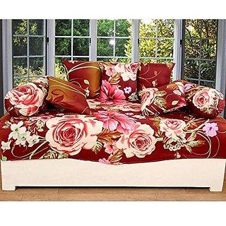 Zain 3D Diwan Set of 8 Pieces Floral Design