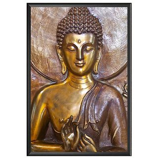 buy lord buddha high quality uv textured wall poster with frame