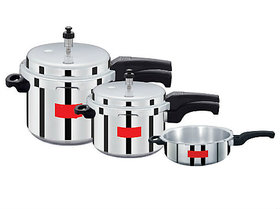 Surya Action Super Saver combo pack 5 L, 3 L, 2 L Pressure Cooker