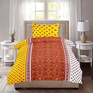 Zain Single Bed Sheet With 1 Pillow Cover