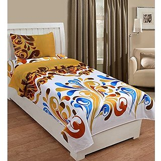 Zain 100 Cotton Single Bed Sheet With 1 Pillow Cover