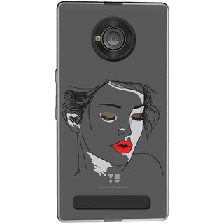 Snooky Printed Face Mobile Back Cover of Micromax Yu Yuphoria - Multicolour