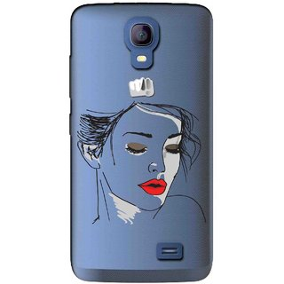 Snooky Printed Face Mobile Back Cover of Micromax Bolt Q383 - Multicolour