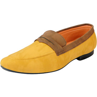FAUSTO Mens Beige Brown Loafers and Mocassins