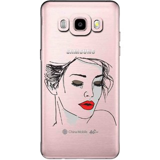 Snooky Printed Face Mobile Back Cover of Samsung Galaxy J5 (2016) - Multicolour