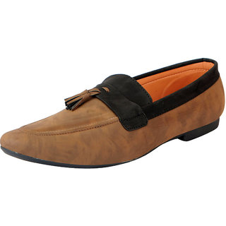 abb94a70c Buy FAUSTO Men s Brown Black Loafers and Mocassins Online - Get 17% Off