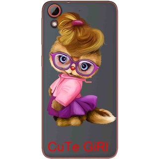 Snooky Printed Cute Girl Mobile Back Cover of HTC Desire 628 - Multicolour