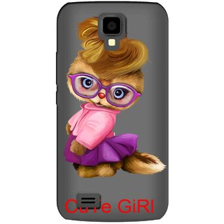 Snooky Printed Cute Girl Mobile Back Cover of Gionee Pioneer P2S - Multicolour