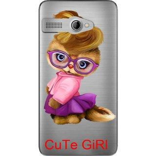 Snooky Printed Cute Girl Mobile Back Cover of Intex Aqua 3G Pro - Multicolour