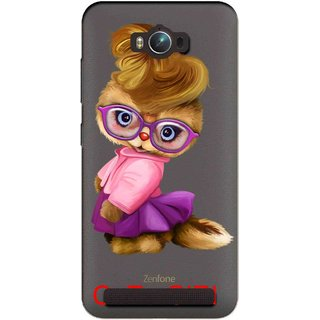 Snooky Printed Cute Girl Mobile Back Cover of Asus Zenfone Max - Multicolour