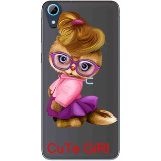 Snooky Printed Cute Girl Mobile Back Cover of HTC Desire 826 - Multicolour