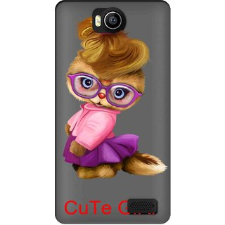 Snooky Printed Cute Girl Mobile Back Cover of Intex Aqua 4.5e - Multicolour