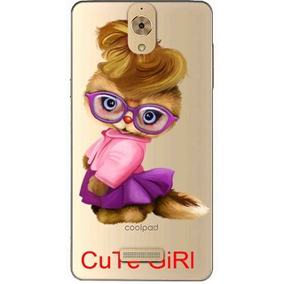 Snooky Printed Cute Girl Mobile Back Cover of Coolpad Mega 2.5D - Multicolour