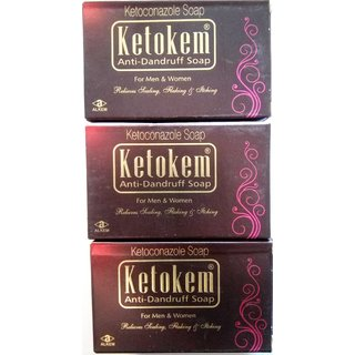 Ketokem Anti-Dandruff soap(set of 3 pcs.)
