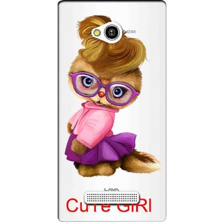 Snooky Printed Cute Girl Mobile Back Cover of Lava Flair Z1 - Multicolour