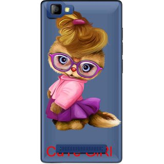 Snooky Printed Cute Girl Mobile Back Cover of LYF Flame 8 - Multicolour