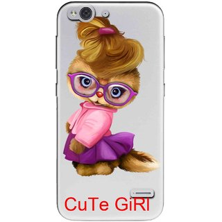 Snooky Printed Cute Girl Mobile Back Cover of LYF Water 2 - Multicolour