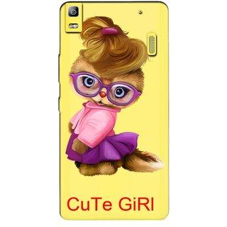 Snooky Printed Cute Girl Mobile Back Cover of Lenovo K3 Note - Multicolour