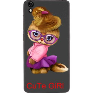 Snooky Printed Cute Girl Mobile Back Cover of LYF Water 5 - Multicolour