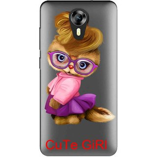 Snooky Printed Cute Girl Mobile Back Cover of Micromax Canvas Express 2 E313 - Multicolour