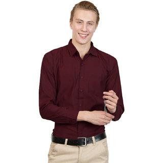 Van Galis Fashion wear Red Formal Shirt For Men