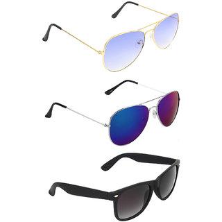 Zyaden Combo of Three Sunglasses- Pack of 3