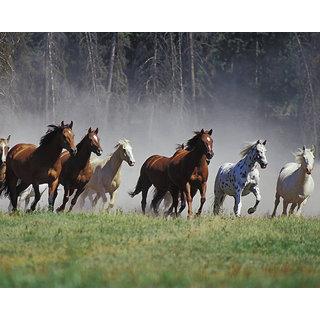 buy shree handicraft seven 7 running horses frame wall hanging