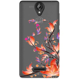 timeless design 13b88 71f65 Snooky Printed Orange Bail Mobile Back Cover of Micromax Bolt Q332 -  Multicolour