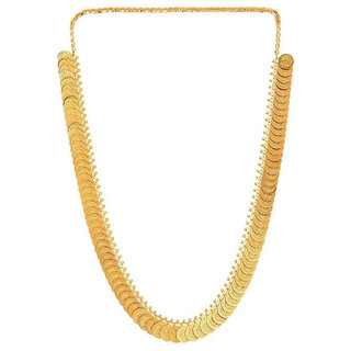 Bhagya Lakshmi Traditional Gold Plated Temple Coin Necklace For Women