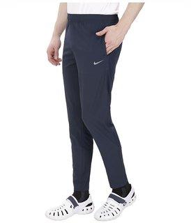 Nike Navy Polyester Lycra Trackpants