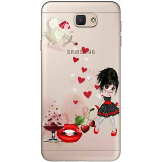 Snooky Printed Girl Mobile Back Cover of Samsung Galaxy J7 Prime - Multicolour