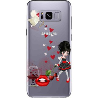 Snooky Printed Girl Mobile Back Cover of Samsung Galaxy S8 - Multicolour