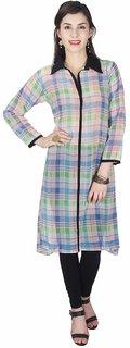 Klick2Style Women's Georgette Multicolor Kurti