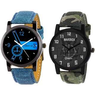 Men's Analog Quartz Multicolor Dial Round Watch