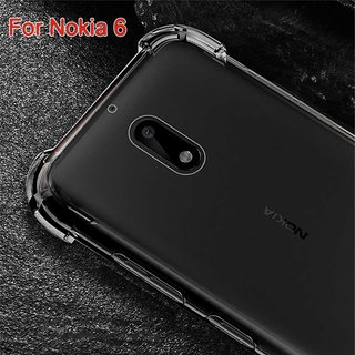 best loved 34f5a fa56e NOKIA 6 Anti-Knock Design Shock Soft Silicone Shockproof Transparent Back  Cover.
