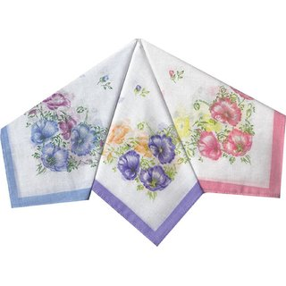 Pack of 6 Cotton Flower Print Hanky